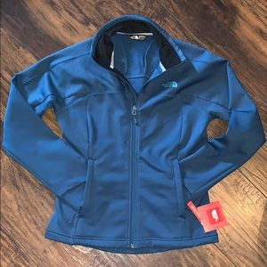 The north face full zip blue jacket size small